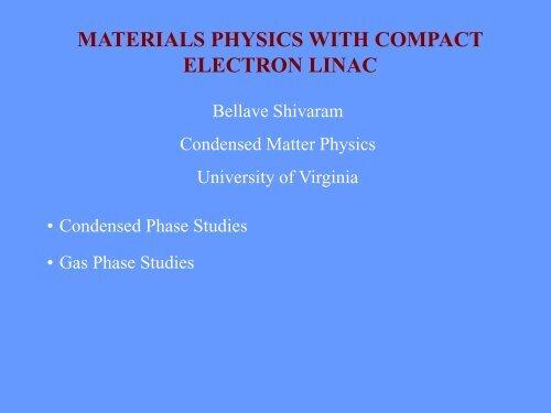 Material physics - University of Virginia