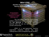 The LENS Experiment— Low Energy Neutrino Spectroscopy - Physics