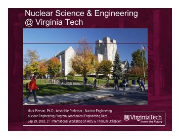 Nuclear Science & Engineering @ Virginia Tech @ g - Physics ...