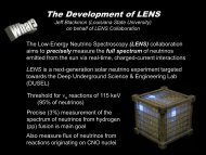 ORNL LENS Simulations - Dec. 2005 - Physics