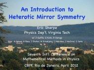 An Introduction to Heterotic Mirror Symmetry - Physics - Virginia Tech