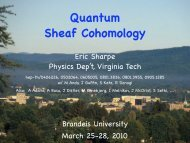 Quantum Sheaf Cohomology - Physics - Virginia Tech