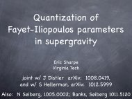 Quantization of Fayet-Iliopoulos parameters in ... - Virginia Tech