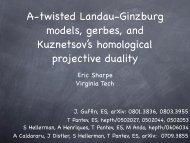 Landau-Ginzburg model - Clay Mathematics Institute