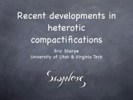 Recent developments in heterotic compactifications - Physics ...