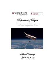 awards 2009 final - Physics - Virginia Tech