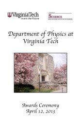 brochure - Physics - Virginia Tech