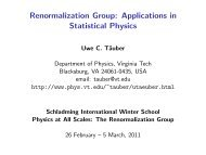 Renormalization Group: Applications in Statistical Physics I-II