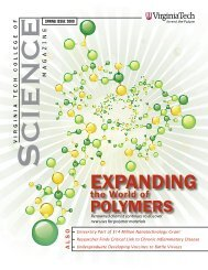 College of Science Magazine, Spring 2009 - Physics - Virginia Tech