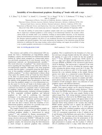 Instability of two-dimensional graphene: Breaking sp2 bonds with ...
