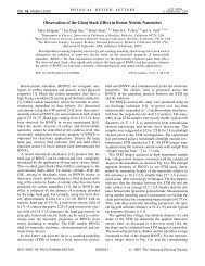 Observation of the Giant Stark Effect in Boron-Nitride ... - Physics