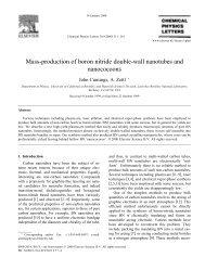 Mass-production of boron nitride double-wall nanotubes ... - Physics