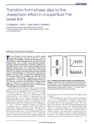 Transition from phase slips to the Josephson effect in a superfluid ...