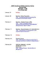 Spring 2008 – 290K Seminar Series - Physics