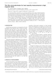 Thin film microcalorimeter for heat capacity measurements ... - Physics