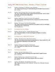 Spring 2007 290K Seminar Series - Mondays, 2:30 pm, 2 ... - Physics