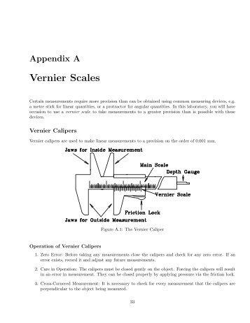 Vernier Scales