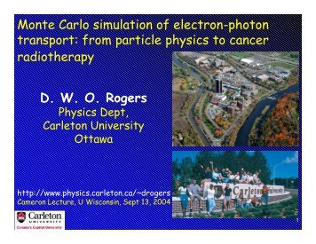Monte Carlo simulation of electron-photon transport