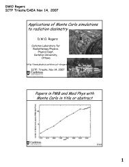 Applications of Monte Carlo simulations to radiation dosimetry ...