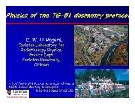 Physics of the TG-51 dosimetry protocol - Carleton University
