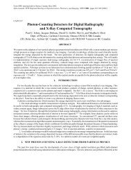 Photon-Counting Detectors for Digital Radiography and X-Ray ...