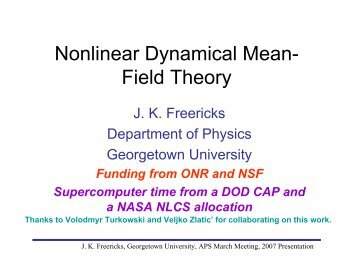 Nonlinear Dynamical Mean- Field Theory - Physics - Georgetown ...
