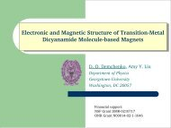 Electronic and Magnetic Structure of Transition-Metal Dicyanamide ...