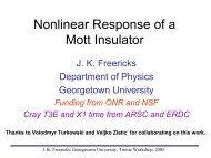 Nonlinear Response of a Mott Insulator - Physics - Georgetown ...