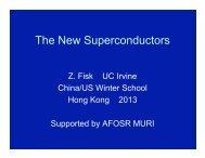 The New Superconductors Hong Kong - Department of Physics, HKU