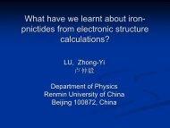 pnictides - Department of Physics, HKU