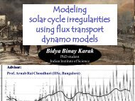 Modeling the irregularities of solar cycle using flux ... - Physics