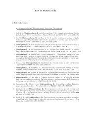 List of Publications - Physics