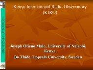 Kenya International Radio Observatory (KIRO) - Lofar