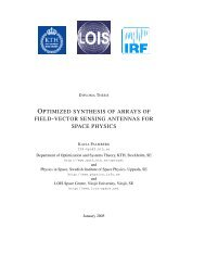 optimized synthesis of arrays of field-vector sensing antennas for ...