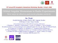Orbital Angular Momentum in Radio Experiments - Swedish Institute ...