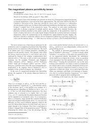 The magnetized plasma permittivity tensor - Swedish Institute of ...