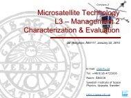 L3_Management-2 - Swedish Institute of Space Physics - Uppsala