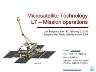 L7_Mission_Operations - Swedish Institute of Space Physics