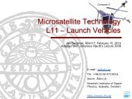 Launch Vehicles - Swedish Institute of Space Physics