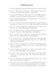 Publication List - McMaster Physics and Astronomy