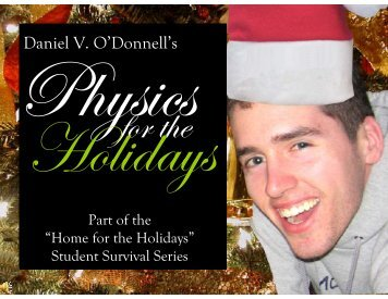 Daniel V. O'Donnell's - McMaster Physics and Astronomy - McMaster ...
