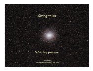 Giving talks Writing papers - McMaster Physics and Astronomy ...