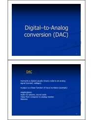 Digital–to-Analog conversion (DAC)