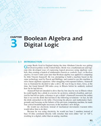 Boolean Algebra and Digital Logic - McMaster Physics and Astronomy
