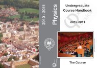 undergrad cover_21September2010.indd - Department of Physics ...