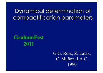 Dynamical determination of compactification parameters