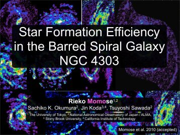 Star Formation Efficiency in the Barred Spiral Galaxy NGC4303