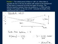 Problem 1: The orbital period of Mars is 1.881 yrs. When Mars is ...