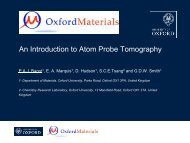 An Introduction to Atom Probe Tomography - Department of Physics