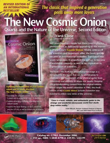 The New Cosmic Onion - Department of Physics